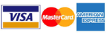 We Accept Visa, Master Card & American Express